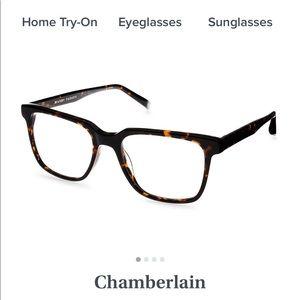 Warby Parker Chamberlain glasses whiskey tortoise